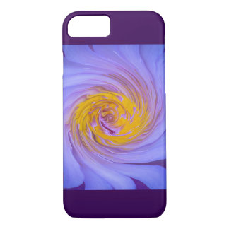 Purple Water Lily Twirl Design iPhone 7 Case