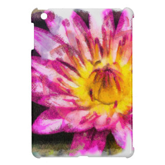Purple Water Lily Watercolor Ink Cover For The iPad Mini