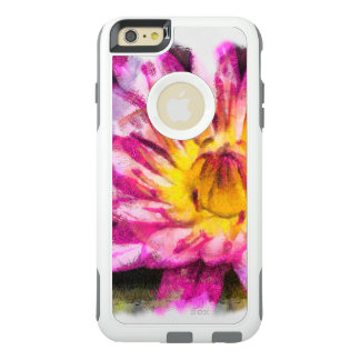 Purple Water Lily Watercolor Ink OtterBox iPhone 6/6s Plus Case