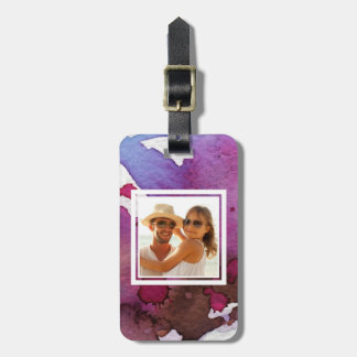 Purple Watercolor | Add your Name Bag Tag