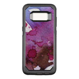 Purple Watercolor Background OtterBox Commuter Samsung Galaxy S8 Case