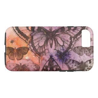 Purple Watercolor Butterflies Cell Phone Case