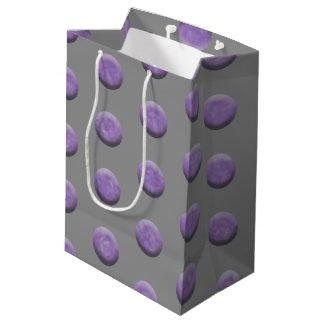 Purple Watercolor Dots Medium Gift Bag