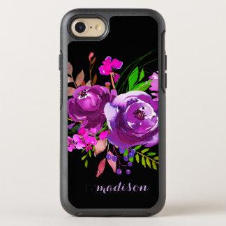 Purple Watercolor Floral Bouquet OtterBox Symmetry iPhone 8/7 Case
