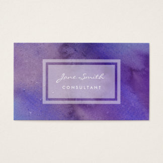 Purple Watercolor, Pretty, Feminine and Abstract Business Card