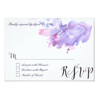 Purple watercolor RSVP Cards II 9 Cm X 13 Cm Invitation Card
