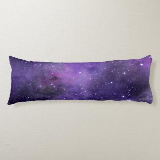 Purple Watercolor Space Pattern Body Cushion