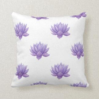 Purple Watercolor Succulent Cushion