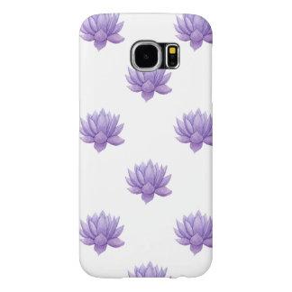 Purple Watercolor Succulent Samsung Galaxy S6 Cases
