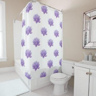 Purple Watercolor Succulent Shower Curtain