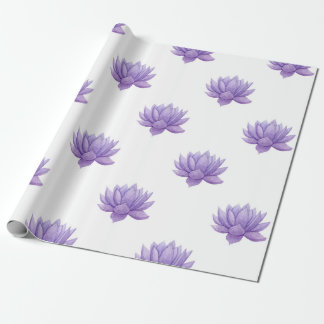 Purple Watercolor Succulent Wrapping Paper