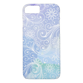 Purple watercolor swirl design, fun girly pattern iPhone 8/7 case