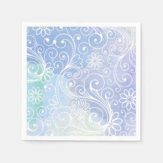 Purple watercolor swirl, modern fun party decor paper serviettes
