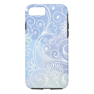 Purple watercolor swirl pattern iPhone 8/7 case