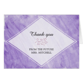 Purple Watercolor Thank You Card