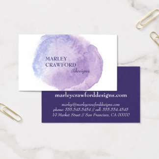 Purple Watercolor | The Spotted Olive | Business Card