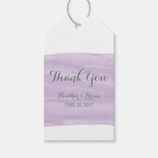 Purple Watercolor Wedding Gift Tags