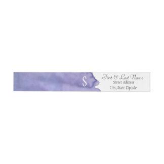 Purple Watercolor Wrap Address Labels Wraparound Return Address Label