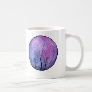 Purple Watercolour Galaxy Tree Print Mug