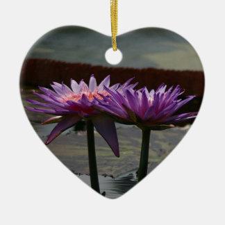 Purple Waterlily Ornament