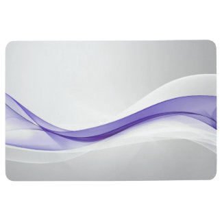 Purple Wave Abstract Floor Mat