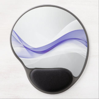 Purple Wave Abstract Gel Mouse Pad