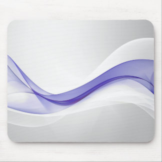 Purple Wave Abstract Mouse Pad