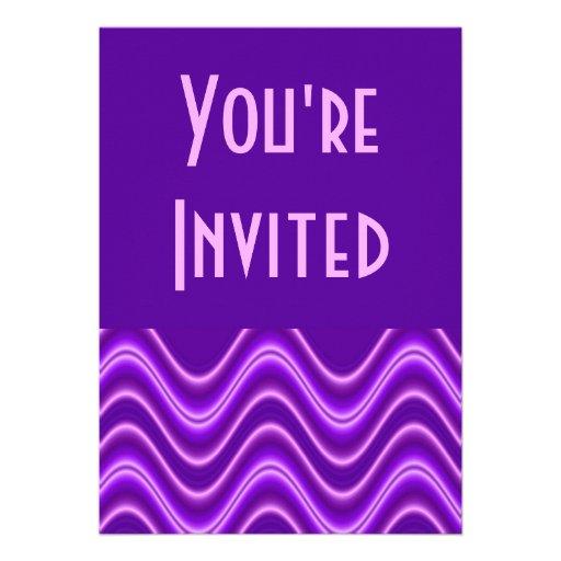 purple wave personalised invite
