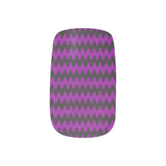 Purple Waves Nail Stickers