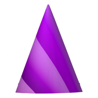 Purple Waves of Pain Art Party Hat