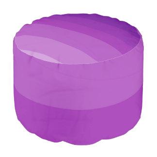 Purple Waves Ombre Pouf