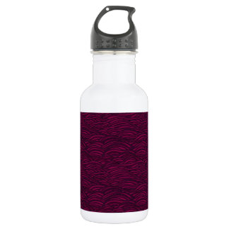 Purple waves pattern. Sea texture. 532 Ml Water Bottle