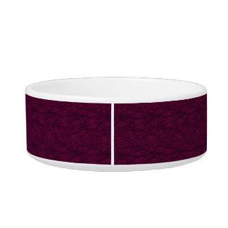 Purple waves pattern. Sea texture. Bowl