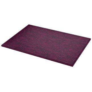 Purple waves pattern. Sea texture. Cutting Board