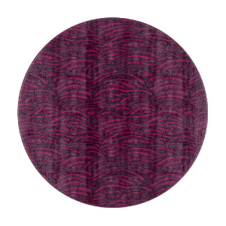 Purple waves pattern. Sea texture. Cutting Board