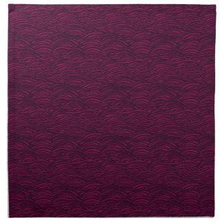 Purple waves pattern. Sea texture. Napkin