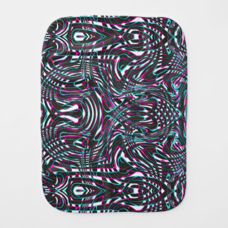 Purple wavy stripes optical illusion burp cloth