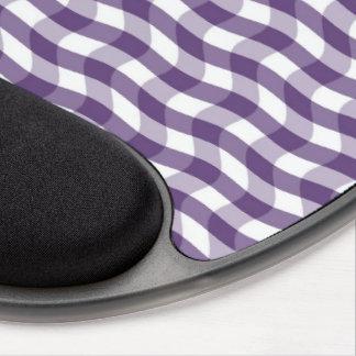 Purple Wavy Stripes Pattern Gel Mouse Pad