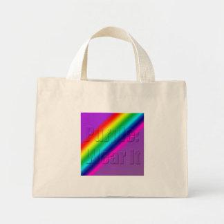 Purple-Wear-It Mini Tote Bag