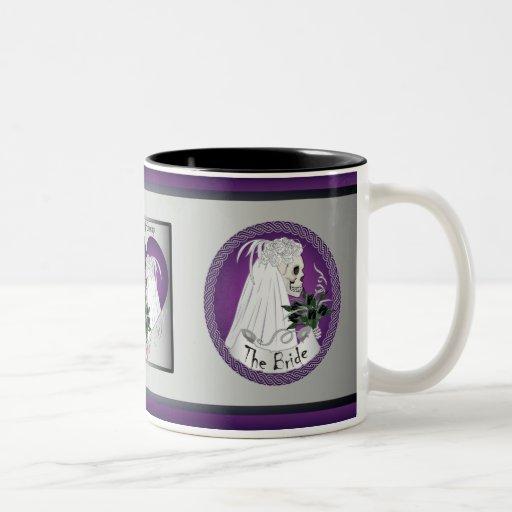 Purple Wedding Skulls Mugs