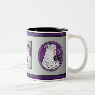 Purple Wedding Skulls Two-Tone Coffee Mug