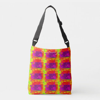 purple whales yellow Thunder_Cove Crossbody Bag