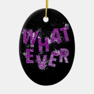 Purple Whatever Ceramic Ornament