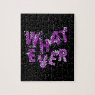 Purple Whatever Jigsaw Puzzle