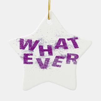 Purple Whatever PNG Ceramic Ornament