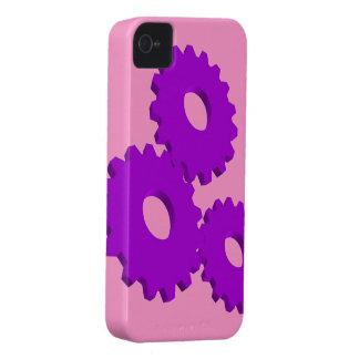 Purple Wheel Clock Cogs theme iPhone 4 Case-Mate Case