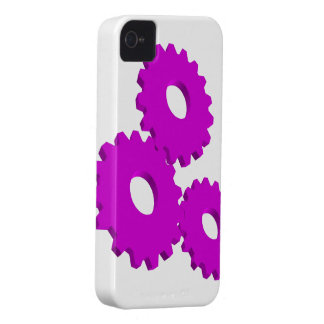 Purple Wheel Clock Cogs theme Case-Mate iPhone 4 Case