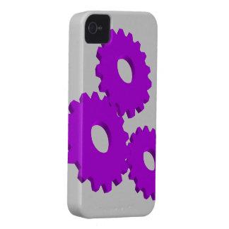 Purple Wheel Clock Cogs theme iPhone 4 Case-Mate Cases