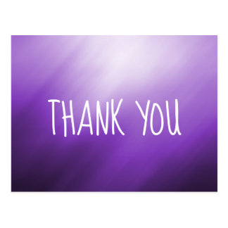 Purple White Abstract Thank You Postcard
