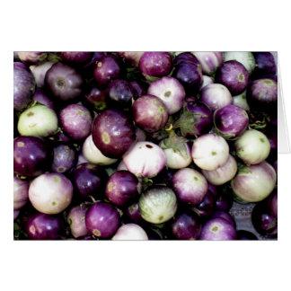 Purple & White Asian Eggplants Card